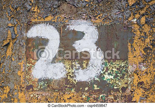 Number 23 - csp4459847