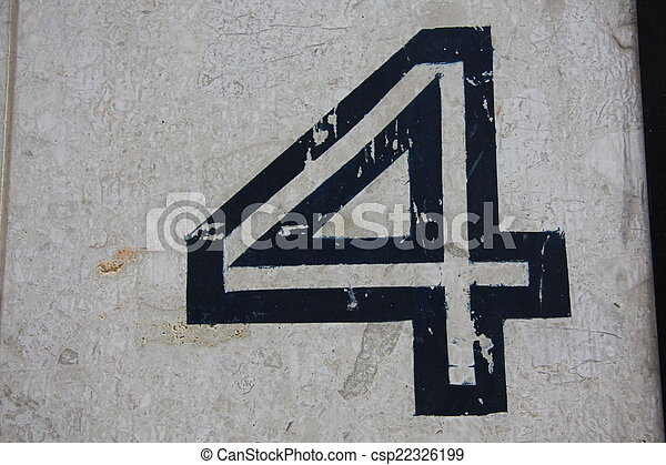 Number 4 - csp22326199