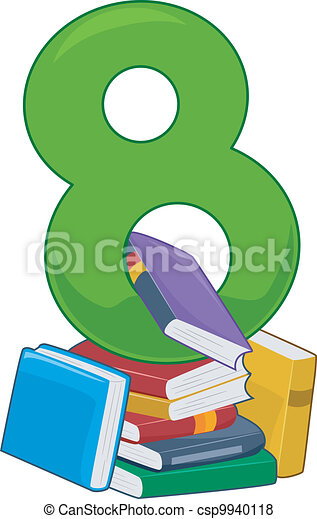illustration featuring the number 8 vector search clip art rh canstockphoto co uk number 8 clipart