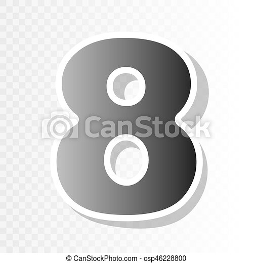 number 8 sign design template element vector new year blackish