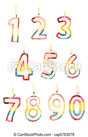 Number Candles 0 To 9