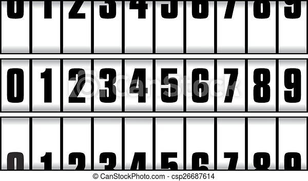 number isolated on the white background - csp26687614