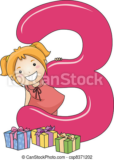 number kid 3 illustration of a kid checking out gifts clipart spider with no background clip art spider pig