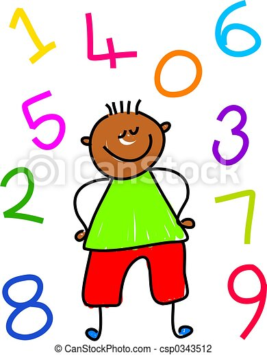 number kid little ethnic boy surrounded by numbers clip art rh canstockphoto com clip art of numbers from 1 to 10 clip art of number 80