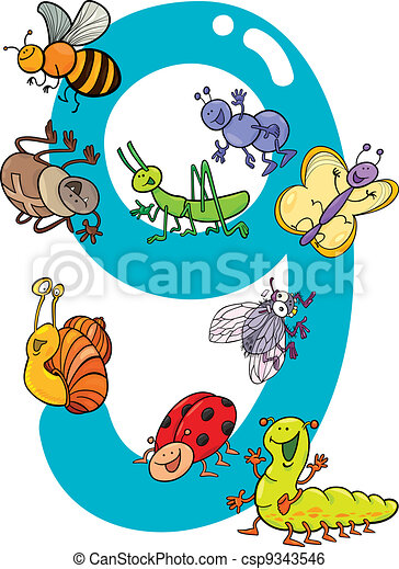 Number Nine Vector Clipart - Royalty Free - GoGraph