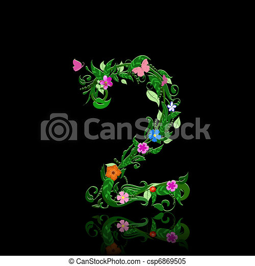 number of flowers - csp6869505