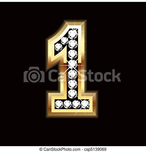 number one bling letter - csp5139069