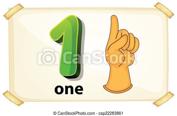 Number One - csp22283861