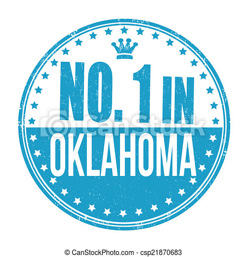 Number one in Oklahoma stamp - csp21870683