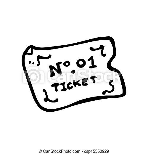 Number One Ticket Cartoon