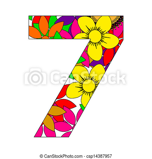 number seven rh canstockphoto com number 7 clipart black and white number 7 clipart free