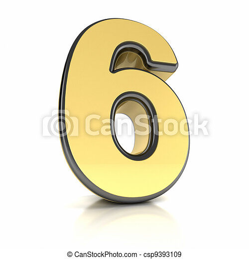 Number Six - csp9393109