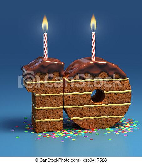 Number Ten Shaped Birthday Cake Csp9417528