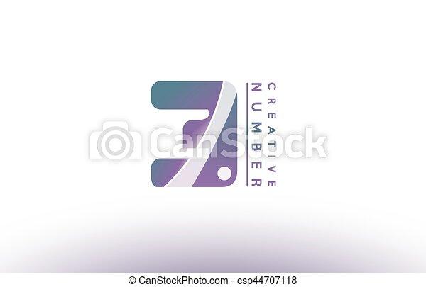 Number three 3 logo icon design. Number three 3 blue purple green ...
