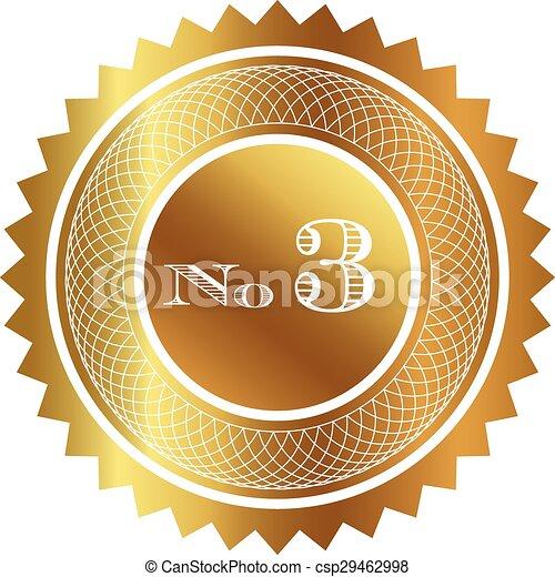 Number three gold seal - csp29462998