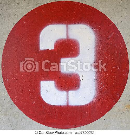 Number Three - csp7300231