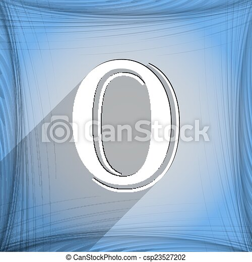 number zero icon symbol Flat modern web design with long shadow and space for your text. Vector - csp23527202