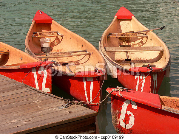 Numbered Canoes - csp0109199