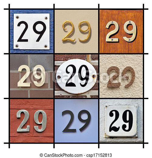 numbers 29 collage of house numbers twenty nine clipart Number 5 Clip Art Black and White Black and White Printable Numbers