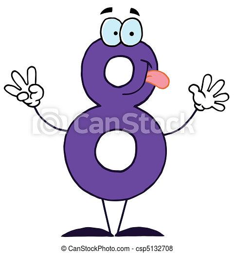 Numero 8 dessin animé