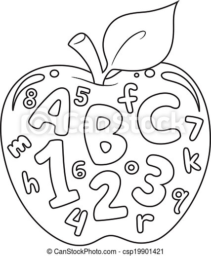 Numbers and Letters Coloring Page - csp19901421