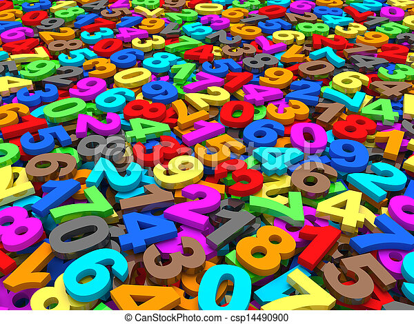 numbers., fond - csp14490900