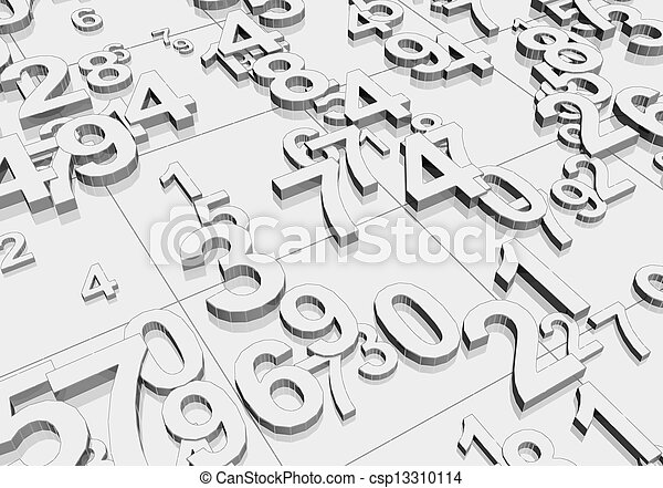 Numbers  - csp13310114