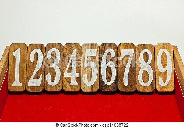 numbers - csp14068722