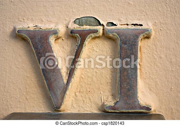 numeral, romana, vi - csp1820143