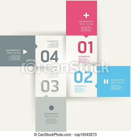 numerato, essere, grafico, usato, disposizione, moderno, linee, orizzontale, /, sito web, bandiere, vettore, disegno, lattina, sagoma, infographics, disinserimento, o - csp19343573