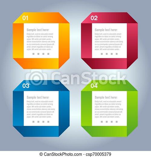 numerato, essere, usato, disposizione, bandiere, moderno, linee, orizzontale, /, sito web, vector/horizontal, disegno, lattina, sagoma, infographics, disinserimento, o - csp70005379