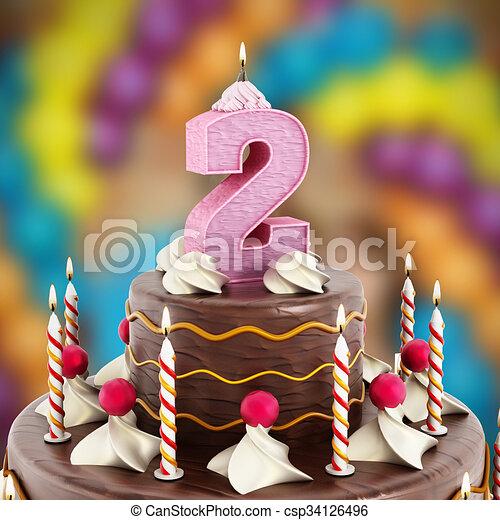 Numero Compleanno Luminoso 2 Torta Candela Numero Compleanno
