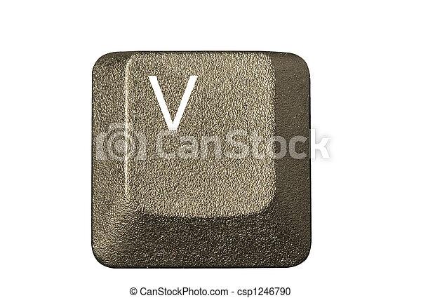 numero, simboli, chiave calcolatore, tastiera, lettera - csp1246790