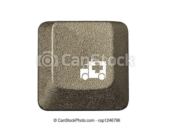 numero, simboli, chiave calcolatore, tastiera, lettera - csp1246796