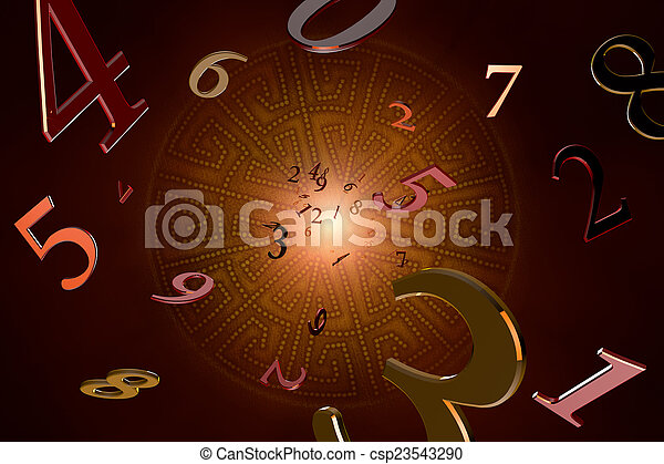 Numerology (magical knowledge).  - csp23543290