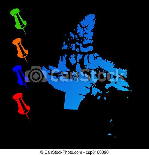 Nunavut travel map - csp8160090