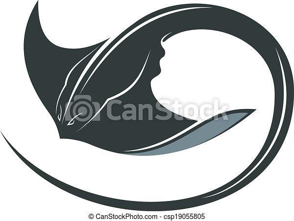 nuoto, raggio manta - csp19055805