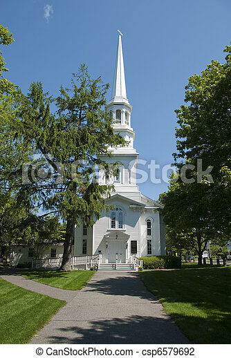 nuova inghilterra, chiesa - csp6579692