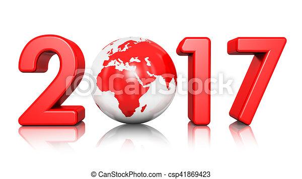 nuovo, 2017, concetto, anno - csp41869423