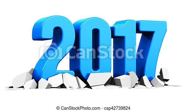 nuovo, 2017, concetto, vacanza, anno - csp42739824