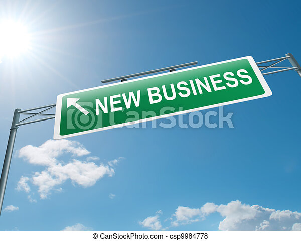 nuovo, concept., affari - csp9984778