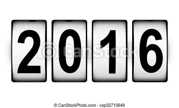 nuovo, concetto, 2016, anno - csp32710649