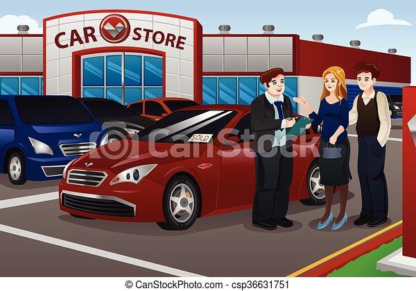 nuovo, coppia, automobile acquisto - csp36631751