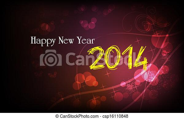 nuovo, felice, 2014, anno - csp16110848
