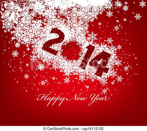 nuovo, felice, 2014, anno - csp16112102