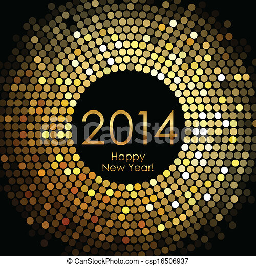 nuovo, felice, 2014, anno - csp16506937