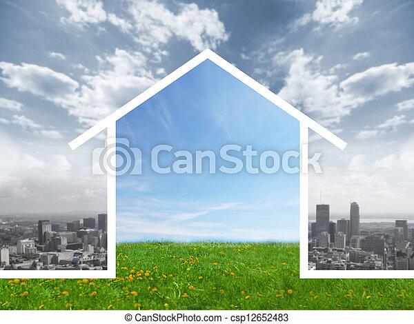 nuovo, house. - csp12652483