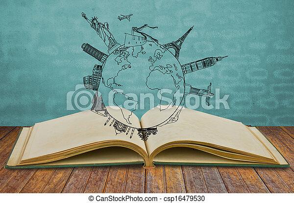 nuovo, libro, york, viaggiare, (japan - csp16479530