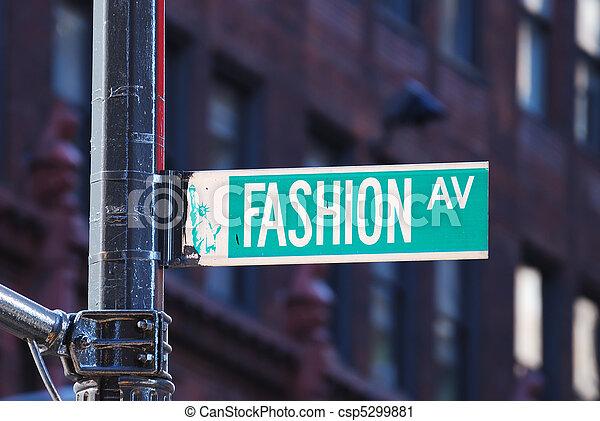 nuovo, moda, viale, york, città - csp5299881