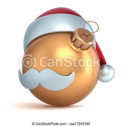 nuovo, palla, ornamento, natale, anno - csp17243169